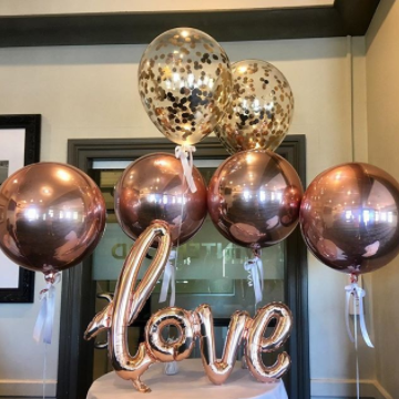 Stylish And On Trend Orbz Foil Metallic Gold Rose Or Silver Colour Helium Filled Balloon 38x40cm Weight Ribbon Included Add To A