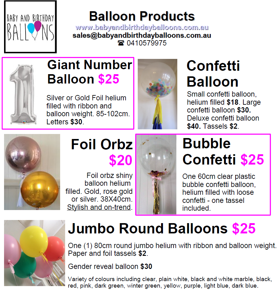 Online Confetti And Helium Balloons Delivery In Brisbane